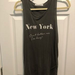 Project Social T gray cotton New York tank size M